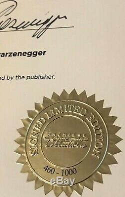 Hand Signed Book ARNOLD SCHWARZENEGGER Duluxe Edition 460 of 1000 RARE + my COA