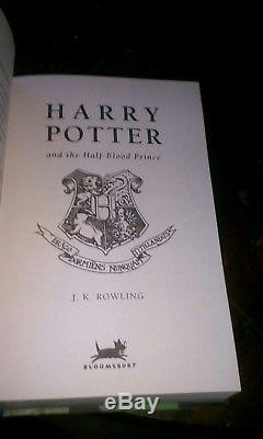 Harry Potter and The Half Blood Prince SIGNED by J K Rowling 1st Edition MINT
