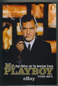 Hugh Hefner signed Mr Playboy first edition hardcover book Psa/Dna Coa