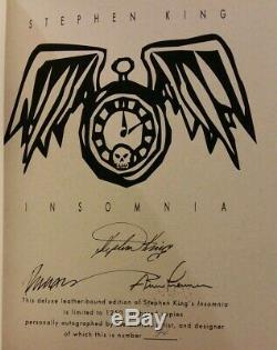 INSOMNIA Stephen King SIGNED /#'d Limited Edition Arnie Fenner Ziesing Books VG+