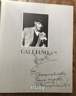 Inscribed book JOHN GALLIANO éditions Assouline DÉDICACÉ signed Fashion MODE