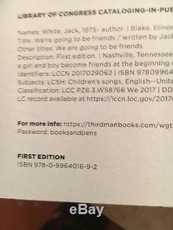 JACK WHITE SIGNED BOOK, We're Going To Be Friends, White Stripes, 1st edition