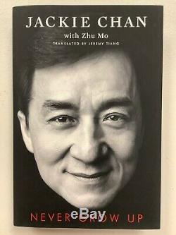 Jackie Chan Signed Book Never Grow Up Limited Edition Autograph JSA Guarantee