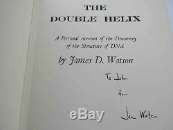 James D. Watson DNA Signed Bundle of First Editions Book 1968-2003 1st