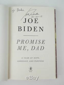 Joe Biden Signed Autographed Promise Me Dad Hardcover Book 1st Edition 2017 MIKE