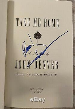 John Denver Signed Autograph Take Me Home Autobiography Book First Edition