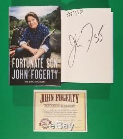 John Fogerty Signed & Numbered 112/200 Limited Edition Fortunate Son Book +coa
