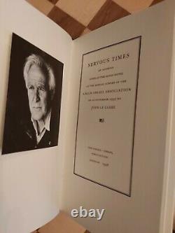 John Le Carre SIGNED NUMBERED LIMITED EDITION Nervous Times Hardback Book