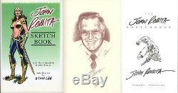 John Romita Sr SIGNED AUTOGRAPHED Sketch Book HC Spider Man 1st LIMITED EDITION