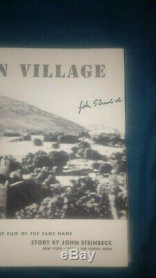 John Steinbeck / The Forgotten Village Signed Book 1941 First Edition Viking