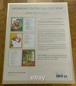 Joni Mitchell Autographed/Signed Morning Glory On The Vine Book LIMITED EDITION