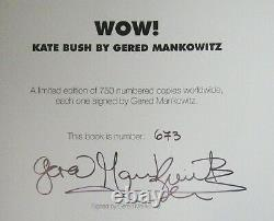 Kate Bush Wow Huge Ltd Edition Book Signed & Acrylic Wall Case Gered Mankowitz