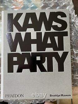Kaws Signed What Party Hardcover Book, Edition of 500 In Hand Autograph