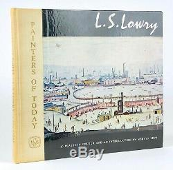 L. S LOWRY SIGNED -PAINTERS OF TODAY- MERVYN LEVY, 1st EDITION, STUDIO BOOKS 1961