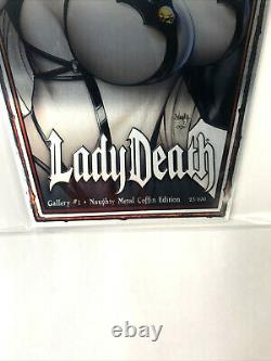 Lady Death Gallery #1 Metal Coffin Edition Comic Book Signed By Pulido With COA