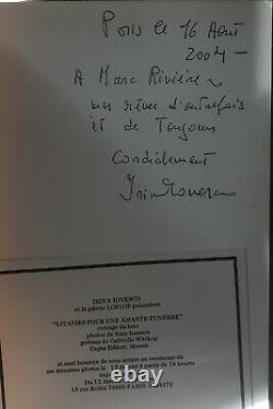 Livre Photos IRINA IONESCO 1976 Signé & Dédicacé 1ére Edition Nu Erotique