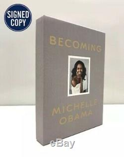 MICHELLE OBAMA HAND SIGNED Auto LIMITED EDITION DELUXE BECOMING BOOK President