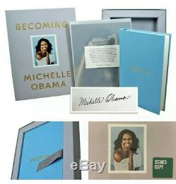 MICHELLE OBAMA SIGNED BECOMING Book Autographed Withcoa 1st Edition Still Sealed