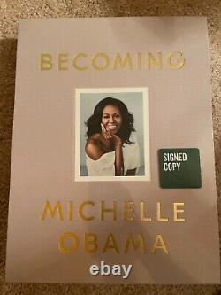 MICHELLE OBAMA signed Deluxe Edition Book Becoming President Barack