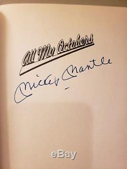 MICKEY MANTLE New York Yankees SIGNED Book ALL MY OCTOBERS 1st Edition JSA LOA