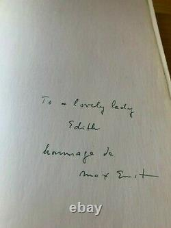 Max Ernst hand signed first edition of Beyond Painting. Exceptionally rare book