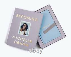 Michelle Obama Autographed Hand Signed Becoming Deluxe Edition Book FREE S/H