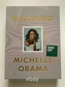 Michelle Obama Becoming Deluxe Edition SIGNED Hard Back Book + Extras