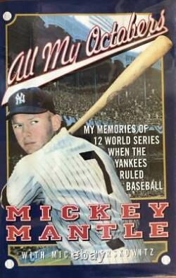 Mickey Mantle- 1st Edition Signed Hardbound Book