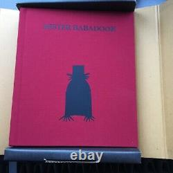 Mr Babadook Book Signed first edition in mint condition in original box