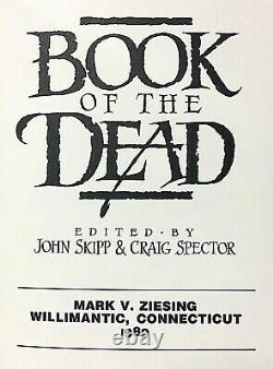 Multi-Signature First Edition Hardcover Book Of The Dead Skipp & Spector