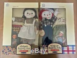 NEW LIMITED EDITION SIGNED Set of 1998 Volland Raggedy Ann & Andy Dolls withBooks
