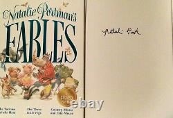 Natalie Portman's Signed Edition Hard Cover Book Fables signed in blue