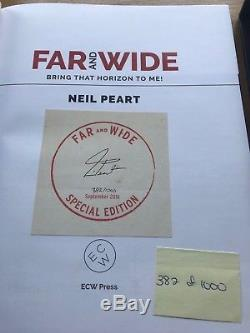 Neil Peart signed limited edition numbered book 382/1000