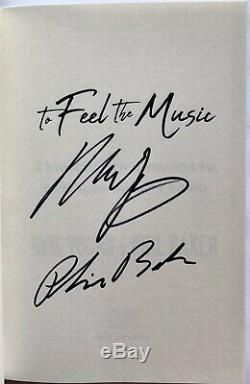 Neil Young signed Book to feel the music phil baker 1st edition + photo beckett