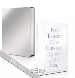 One Hundred Lyrics and a Poem Signed Edition book Pet Shop Boys Neil Tennant