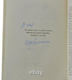 Pansies by DH Lawrence SIGNED Limited Edition 1929 Banned Books D. H
