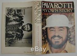 Pavarotti My Own Story Hand Signed First Edition Vintage Hardcover Book