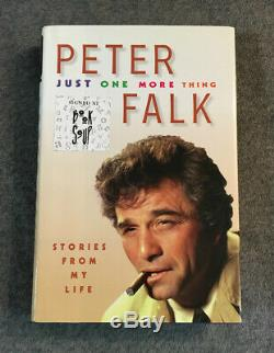 Peter Falk Signed First Edition Book Just One More Thing Has No Personalization