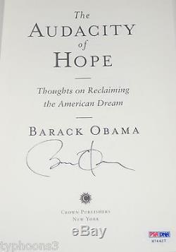 President BARACK OBAMA Signed 1st Edition THE AUDACITY OF HOPE book with PSA LOA