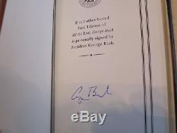 President George HW Bush SIGNED Easton Press First Edition book All The Best