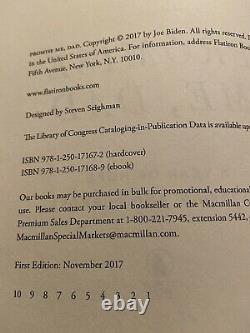 President Joe biden Hand Signed 1st Edition Book