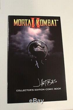 RARE SIGNED 1994 Mortal Kombat II Collectors Edition Comic Book Mail-In Only HTF