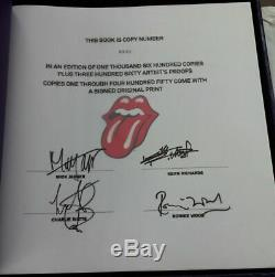 ROLLING STONES Limited Edition Taschen Book Signed By MICK KEITH CHARLIE RONNIE