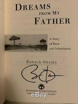 Rare Barack Obama Dreams from My Father Signed Book 1st Edition 1996 Autographed