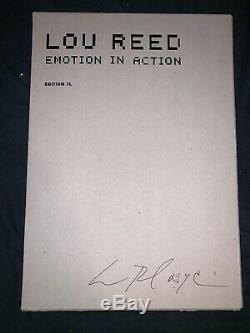 Rare Lou Reed Signed Autographed Emotion In Action Art Book 1st Edition 2003