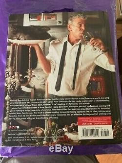 Rare Signed Book Anthony Bourdain Appetites Cookbook First Edition + Vip Pass