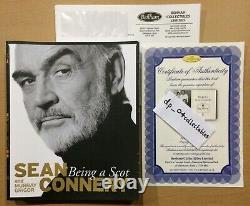 Rare Signed Book + COA Sean Connery (James Bond) Being A Scot 2009 First Edition