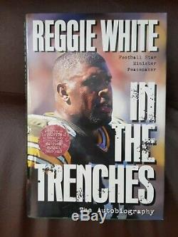 Reggie White AUTHENTIC SIGNED Copy IN THE TRENCHES 1st Edition Book 1996Mint