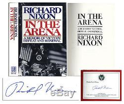 Richard Nixon Signed''In the Arena'' First Edition Book