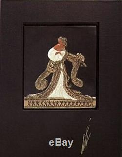 Rigoletto (Bronze) Bas Relief & Signed Book, Limited Edition, Erte MINT with COA